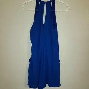 Express royal blue romper